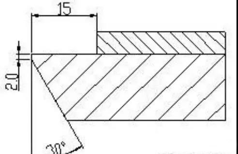 钛钢复合板台阶式坡口加工简图
